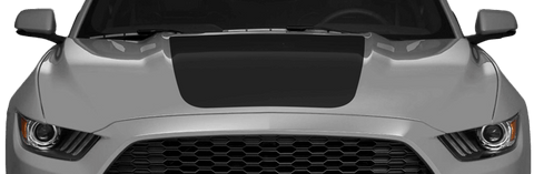 Ford Mustang 2015 Main Hood Decals on Vehicle