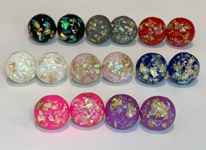 Foiled in colour studs