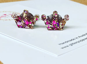 Clip ons studs - Crown