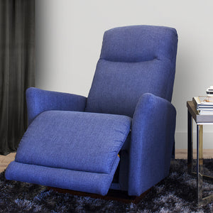 Harmony Fabric iClean Recliner [Midnight Blue]