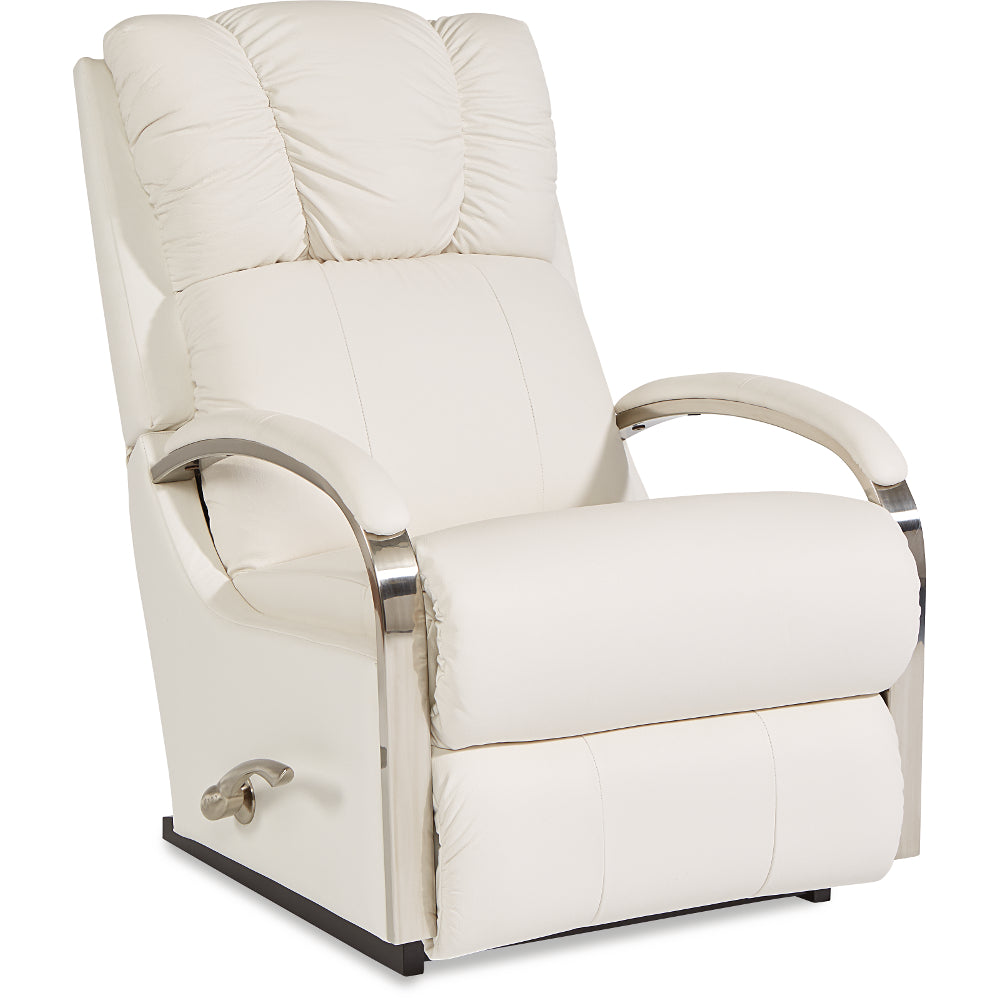 HARBOR TOWN Leather Rocker Recliner (Steel)