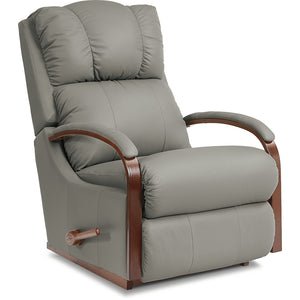 HARBOR TOWN Leather Rocker Recliner (Wood)
