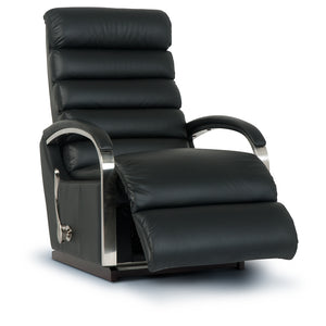 NORMAN Leather Rocker Recliner (Steel)