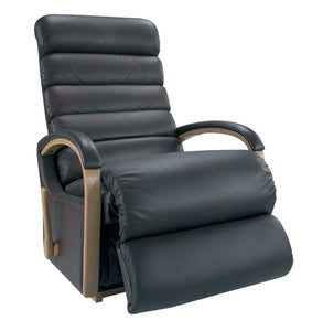 NORMAN Leather Rocker Recliner (Wood)