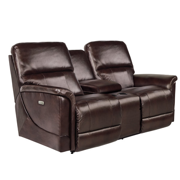 OSCAR Power La-Z-Time Loveseat with Console