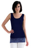 L and XL Navy Lace Tank Top