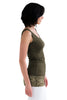 Army Green Lace Tank Top