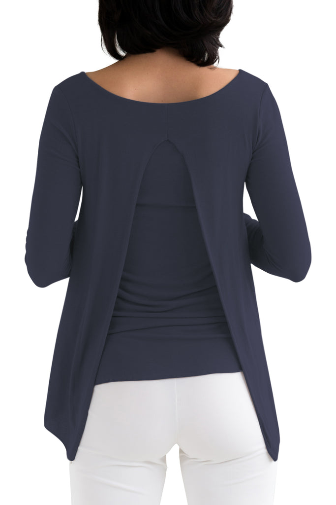 Navy Via Strozzi Signature Top