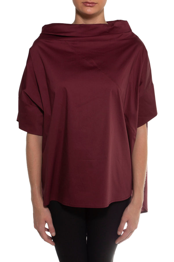 Burgundy Shale Blouse