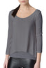 Steel Grey Via Strozzi Signature Top