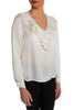 Cream Fringe V Neck