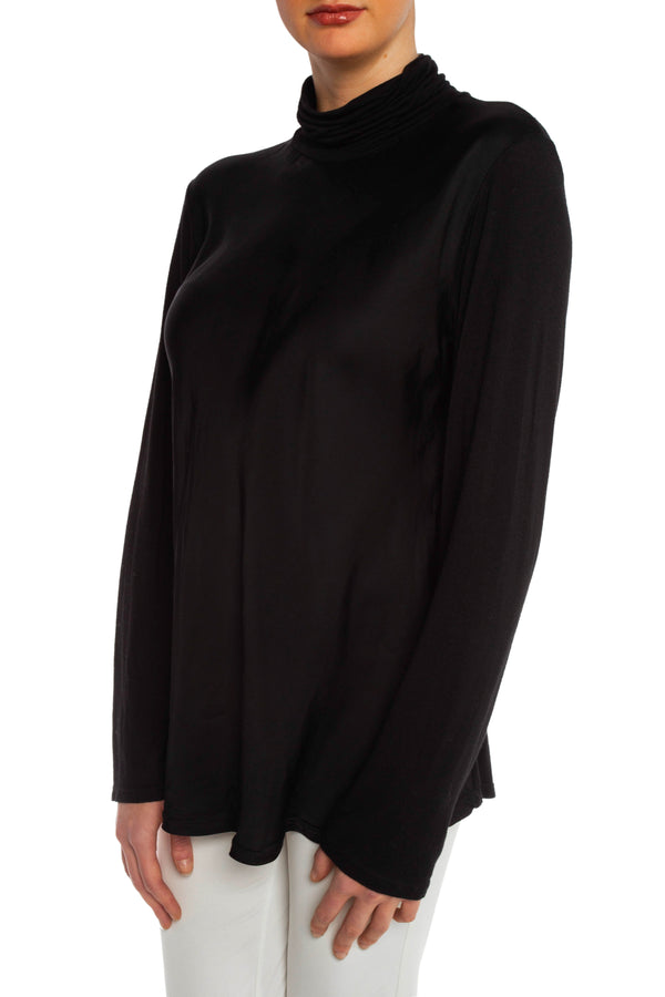 Black Satin Turtleneck