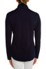 Navy Satin Turtleneck
