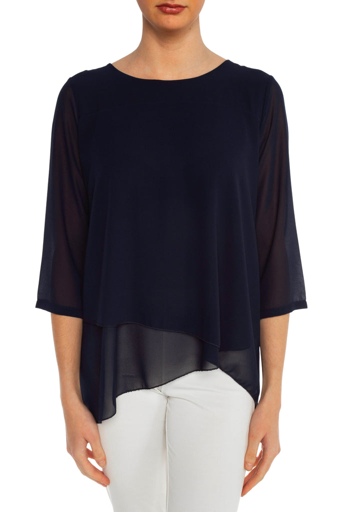 Navy Linda Blouse