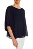 Navy Malika Blouse