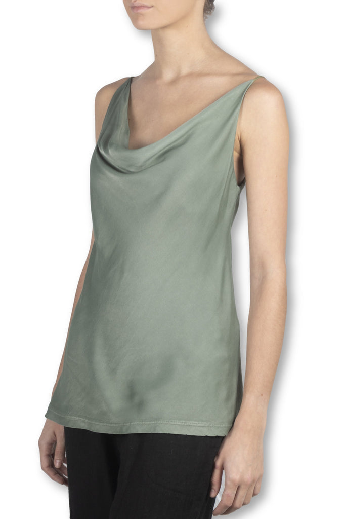 Green Satin Cami
