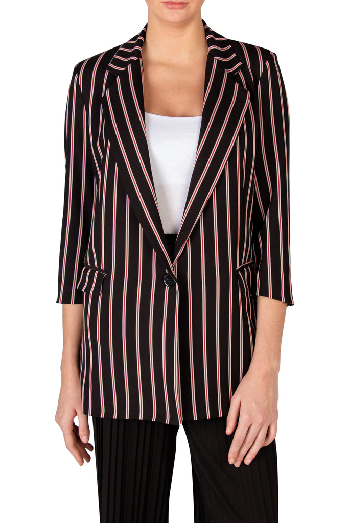 Red Striped Blazer