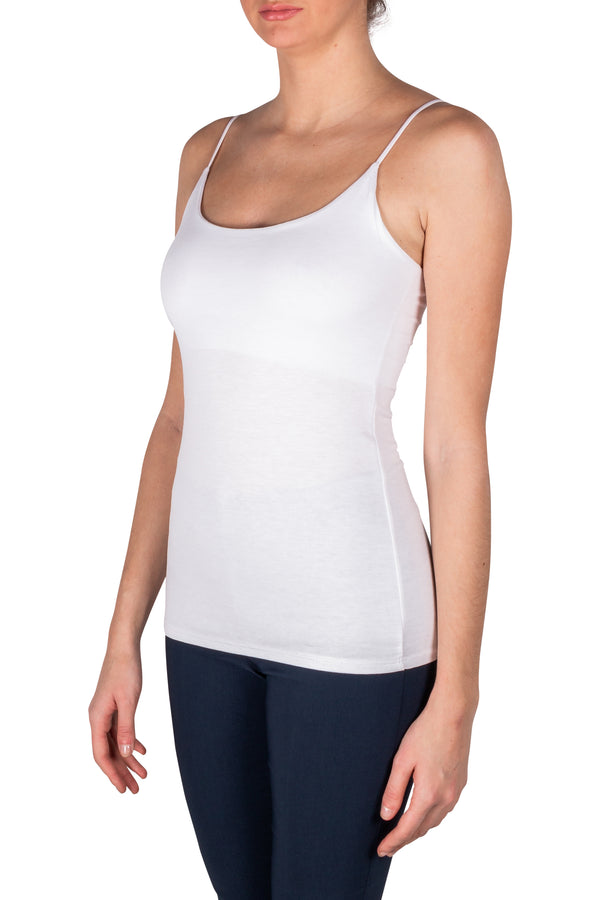 White Thin Strap Tank Top