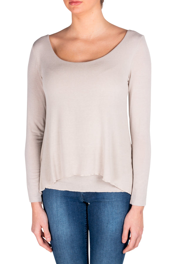 Beige Via Strozzi Signature Top