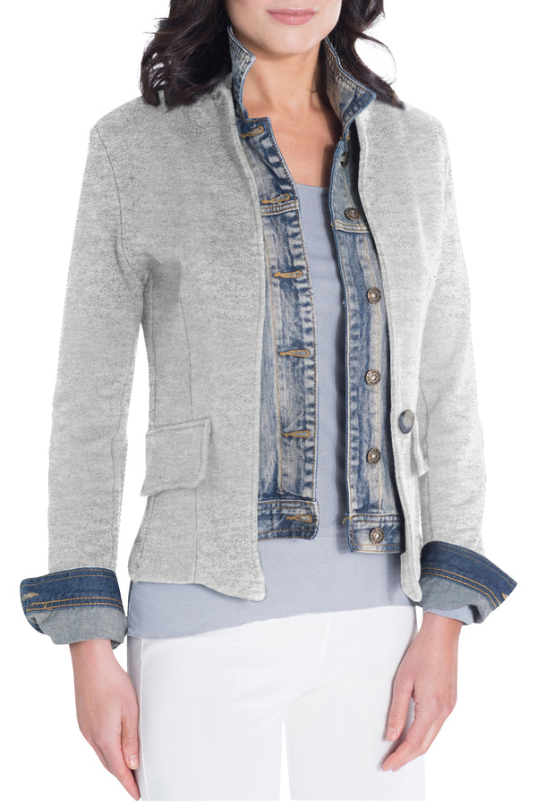 Light Grey Signature Jean Jacket