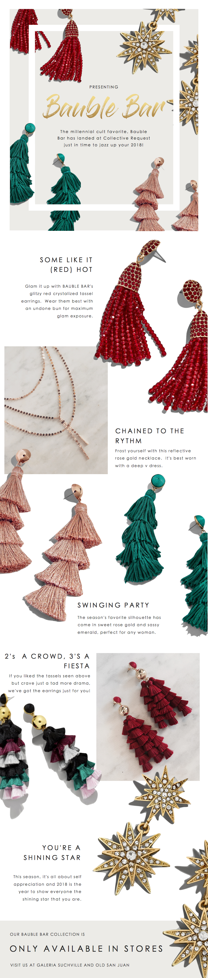 BaubleBar Jewelry- Earrings Tassels