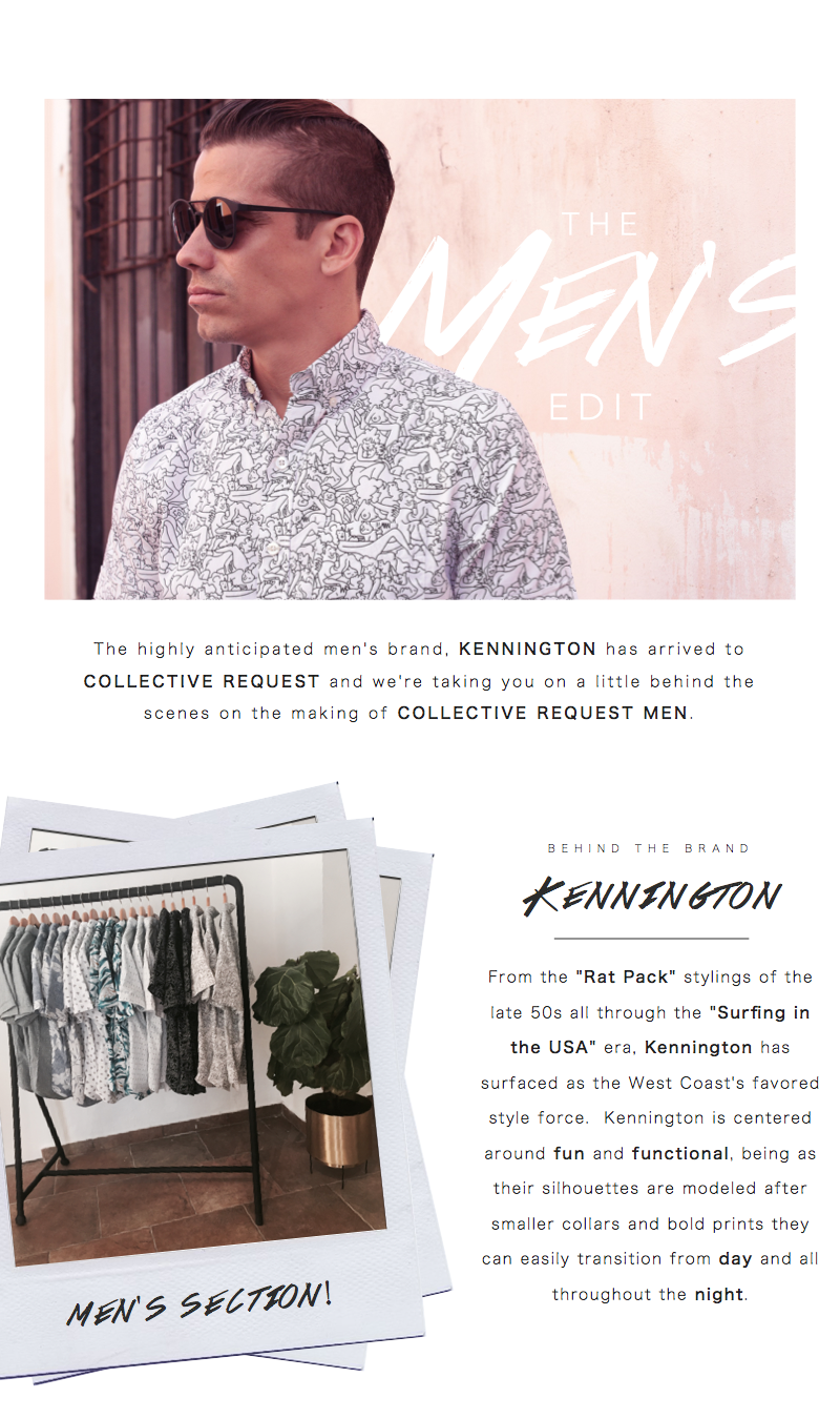 Collective Request: Menswear- Kennington shirts
