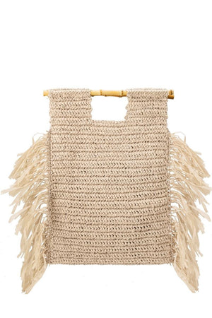 Ivory Casey Natural Large Straw Tote Bag