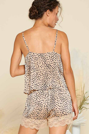 Brown Maeve Leopard PJ Set