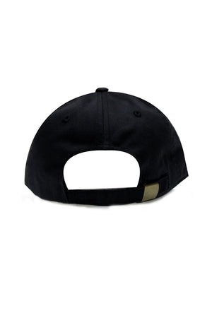 Rose Black Baseball Cap
