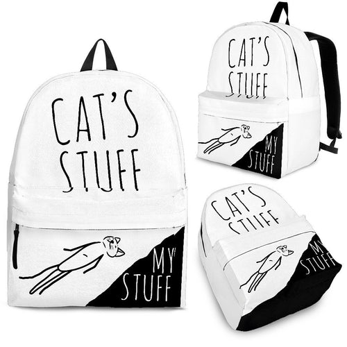 Backpack - Cat's Stuff | My Stuff - White - Abby's Alley