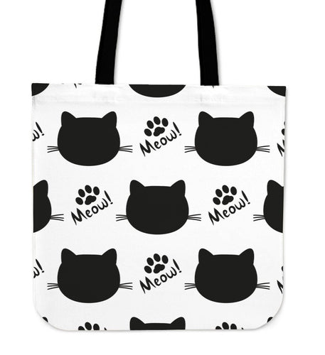 Black White Cat Tote Bag - Abby's Alley
