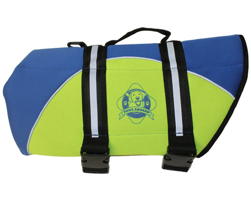 Blue and Yellow Neoprene Life Jacket - Abby's Alley