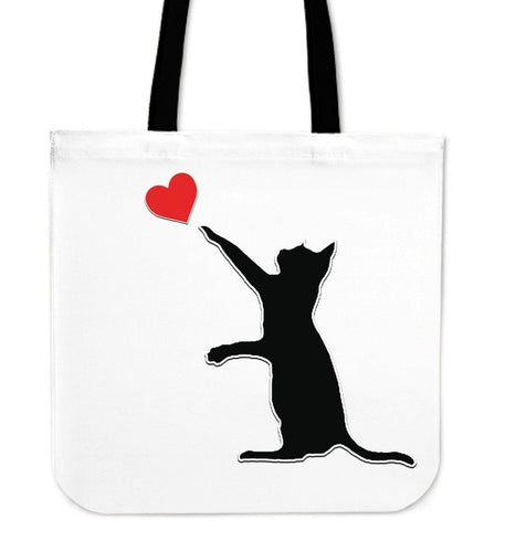 Cat and heart Tote Bag - Abby's Alley