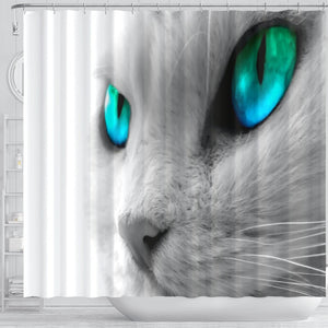 Cat Eyes Shower Curtain - Abby's Alley