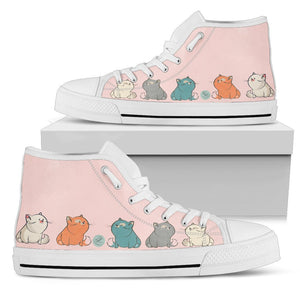 Chubby cats Women's High Top - Abby's Alley