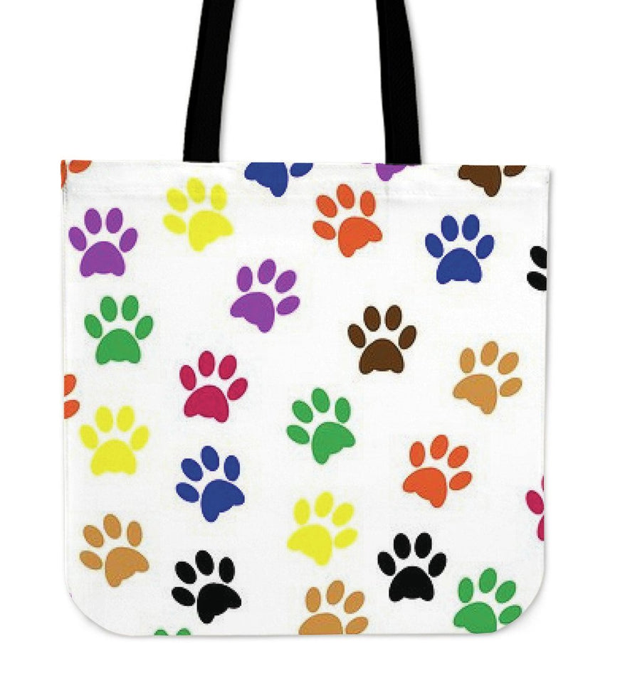 Colored Paw s Tote Bag - Abby's Alley