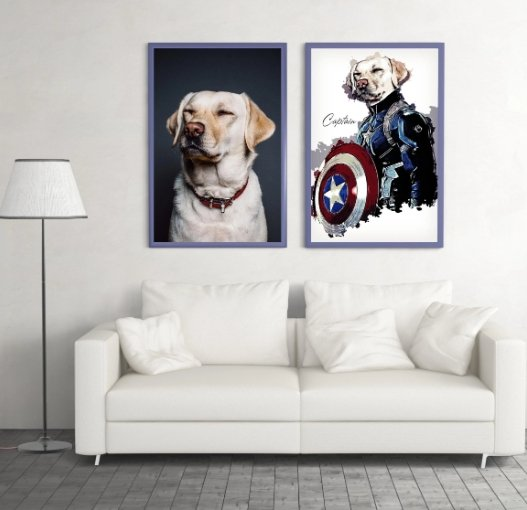 Custom Pet Superhero Canvas - Abby's Alley