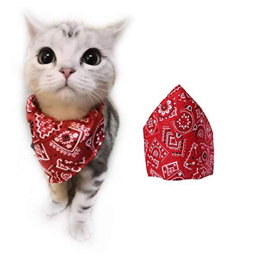 Dog Bandana Printed Neck Polyester Collar Scarf Adjustable Neckerchief for Puppy Dogs Cats Pet Accessories Triangular Bandage - Abby's Alley