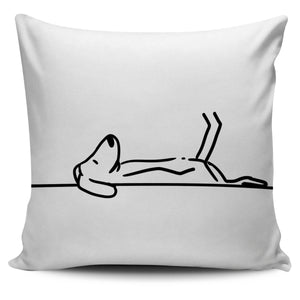 Dog Snooze White Pillow - Abby's Alley