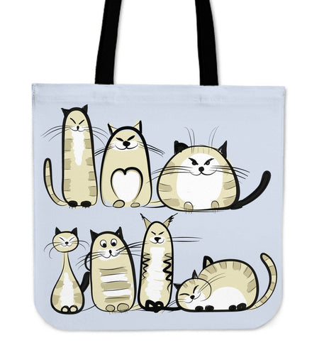 Funny Cat IV Cloth Tote Bag - Abby's Alley