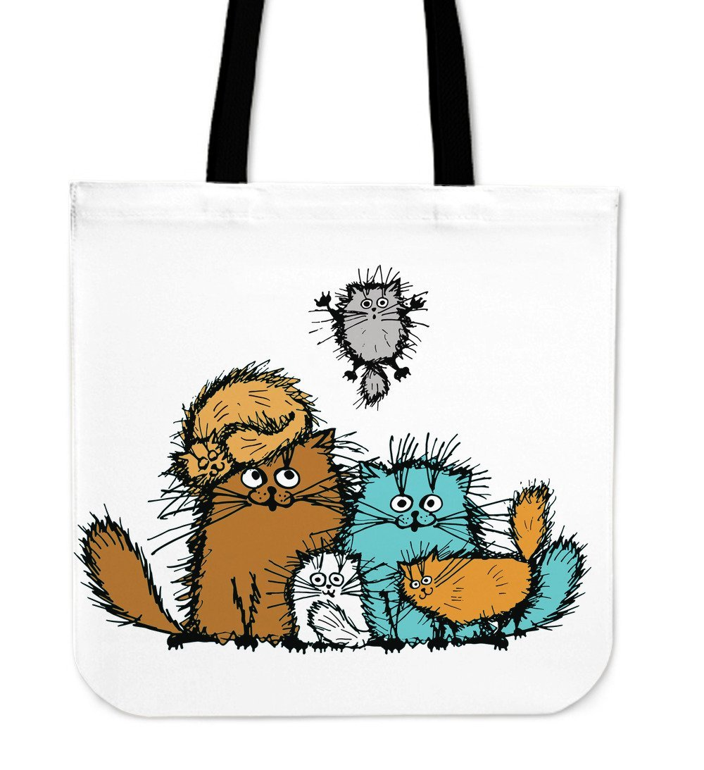Fuzzy Cat XIX Cloth Tote Bag - Abby's Alley