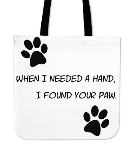 I Found Your Paw Tote Bag - Abby's Alley