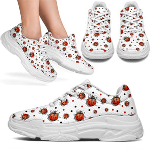 Ladybird Chunky Sneakers (White) - Abby's Alley