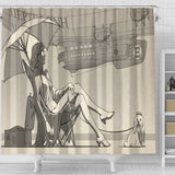 Lazy Dog Day Shower Curtain - Abby's Alley