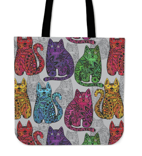 Paisley Cat Tote Bag - Abby's Alley
