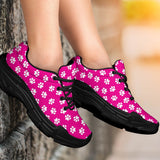 Paw Print Hot Pink Chunky Sneakers - Abby's Alley