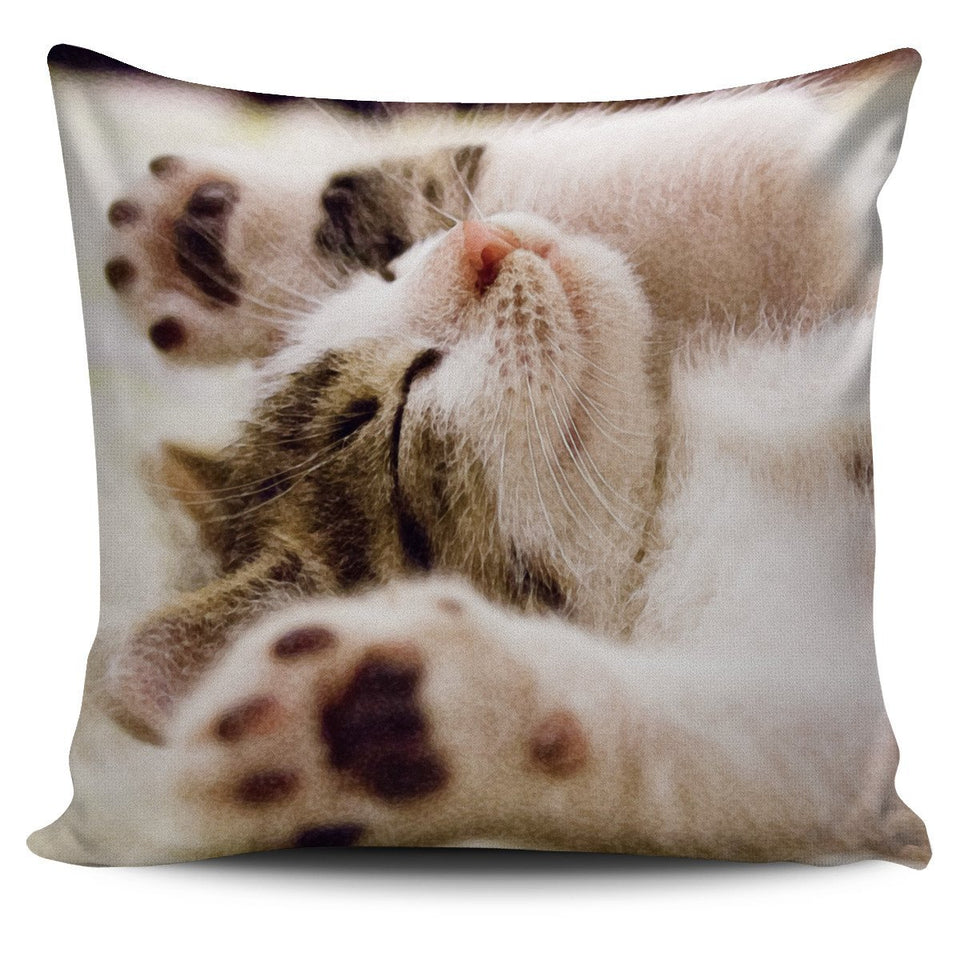 Pillow Cover Sleeping Kitten Watercolor - Abby's Alley