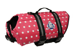 Pink and White Polka Dot Doggy Life Jacket - Abby's Alley