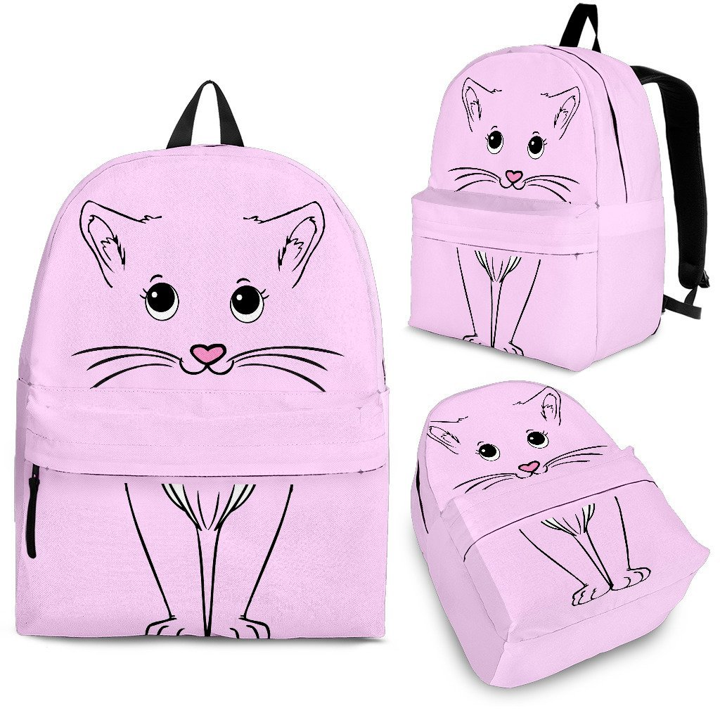 Pink Cute Cat Backpack - Abby's Alley