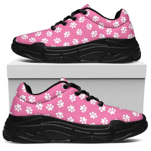 Pink Paw Print Chunky Sneakers - Abby's Alley
